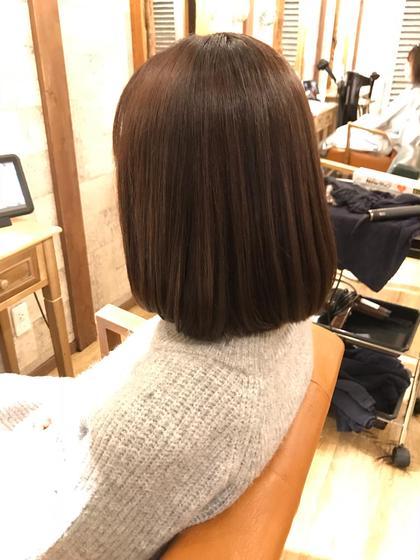 【La fith人気No.3】カット+縮毛矯正+潤い艶カラー☆ベーストリートメント付