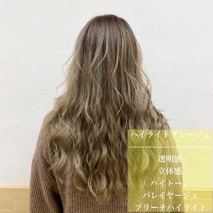 <極細ハイライト&艶カラー&トリートメント🦄>暗髪も映える!