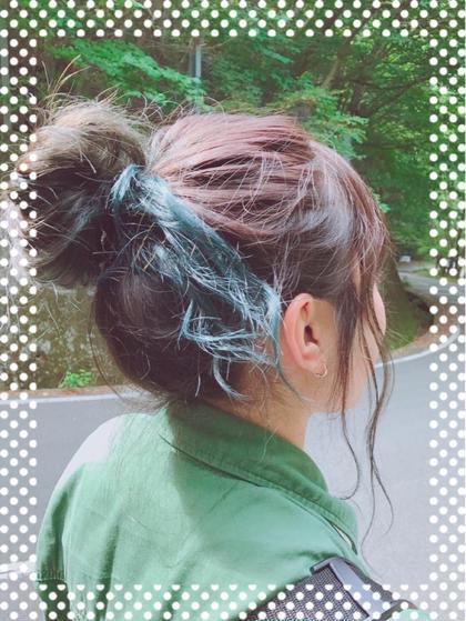 グラデーションカラーです。(ダブルカラーになるので料金など変わってきます。) 毛先はブリーチしてから色味を入れています! 根元〜中間まではアッシュ系のお色で染めています!  Alushe錦糸町店所属・菅沼凌子のスタイル