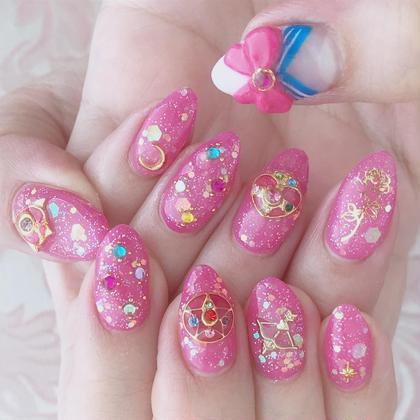 こちらはやり放題コースのみ対応可能なデザインになりますので、ご注意ください🌙  #harajyuku#原宿#原宿ネイルサロン#プライベートネイルサロン#プライベートサロン#ガーリーネイル#キラキラネイル#夏ネイル#3dネイル#ゆめかわ#ゆめかわネイル#ハートネイル#セーラームーン#セーラームーンネイル#sailormoon #薔薇ネイル#sailormoonnail#pink#pinknail#リボンネイル #ラフリーネイル #nail#pinkstagram #リボン#美少女戦士セーラームーン ネイリストCHIAKIの