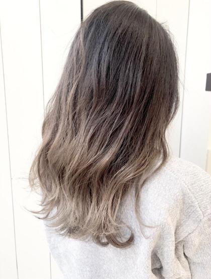🌈グラデーションカラー🌈毛先ブリーチ➕高発色カラーモデル