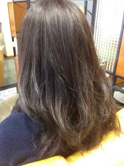 透明感を出すためにアッシュ系のブラウンで染めました! ネクスト阪神今津店所属・大西由祥のスタイル