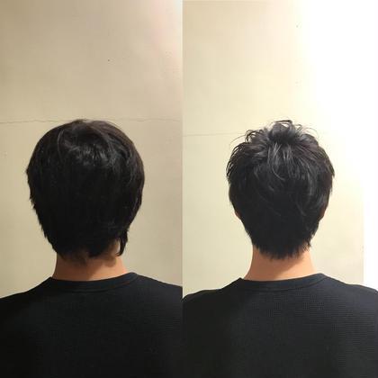 メンズ エリアシと前髪の生えクセが強いとの事なので 少し長めに残し、おさまりが良くなるようにカットしました!(^ν^)