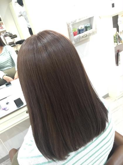 【1月31日迄限定】ファイバープレックス使用!!ダメージレスカラー+前髪カット+炭酸プラチナトリートメント
