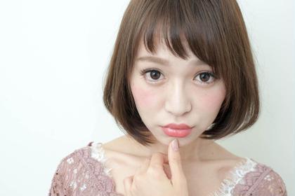 シンプルなボブに短め前髪が可愛いスタイル hair care salon Schon所属・久木元 猛志のスタイル