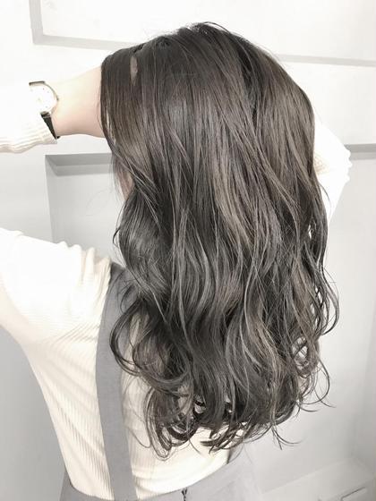 《アッシュ、グレーなどくすませた髪色にしたい方🔥》 アディクシーカラー + 前処理トリートメント + 炭酸シャンプー