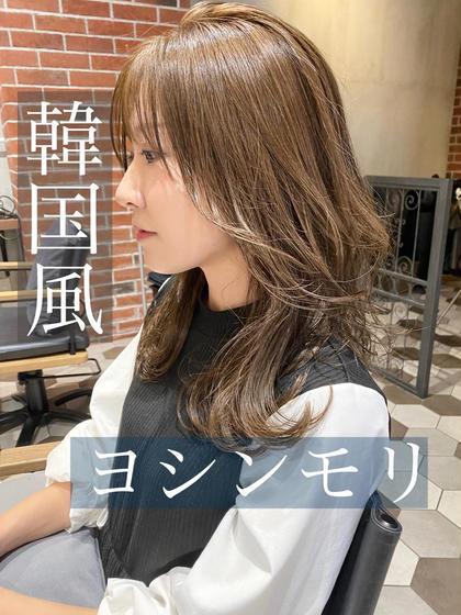 韓国風レイヤーカット(ヨシンモリ)+イルミナカラー+色持ちケアトリートメント