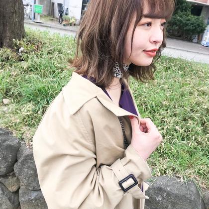 【#春限定】もっとかわいく♡♡前髪cut&透明感color♡♡