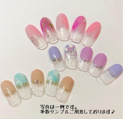 ご新規様☆プチプラコース☆5500円で♪爪が伸びても気にならない変形フレンチや塗りかけなどの人気デザイン♪