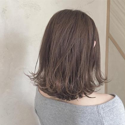 カラー ヘアアレンジ ミディアム チョコレートベージュ♡  アッシュ系のヘアカラーです!