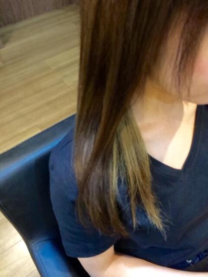 夏color☆内側だけ明るくしてアレンジしても可愛い感じに♫ hair gloss所属・熊澤愛のスタイル