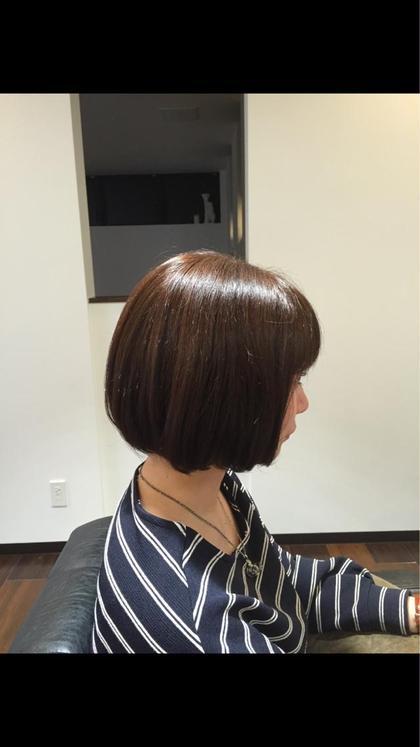 やわからショートボブ  毛先を重たくしすぎないことで、 すっきりとしたボブスタイルです!  幅広い世代に人気のショートボブです☆ iNSYO     hair lounge所属・石井ひとみのスタイル