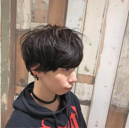 似合わせカット×ショートで出しづらいふわっと感を、パーマで解消☺︎ ニュアンス感やアイロン苦手〜という方にもオススメです✳︎ polku hair&nail所属・長岡 千尋のスタイル