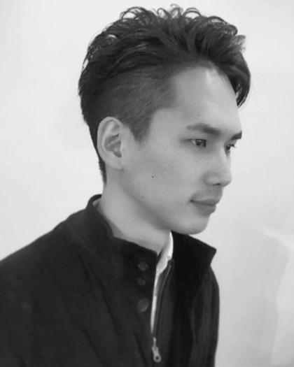 メンズOK ツーブロック パーマ ^_^ ラクール所属・辻倉敏郎のスタイル