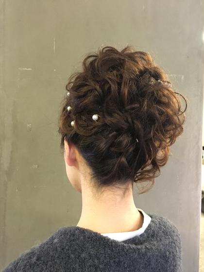 およばれカールアップ HAIR  MAKE   muse所属・森脇麻紀子のスタイル