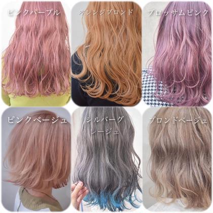透明感カラー&前髪カット&色持ちトリートメント