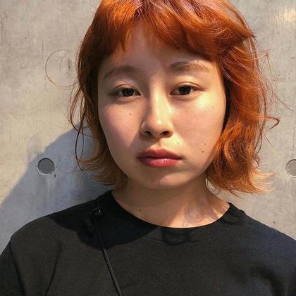💛💗💜23日限定格安クーポン💛💗💜前髪カット+ダブルカラー+トリートメント🎀