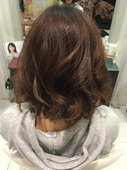 アフタァーーー ボブスタイルに明るめのマットで染めました(^O^)  hair&make earth所属・スタイリスト 吉岡碧のスタイル