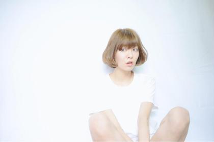 透明感★ワンカールベージュボブスタイル CieL所属・沖田将史のスタイル
