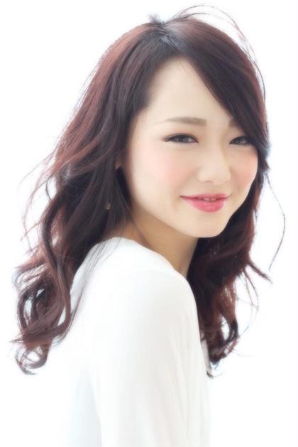 ダークレッド★  可愛らしい 大人なイメージに! hair x nail Park所属・野村由里香のスタイル