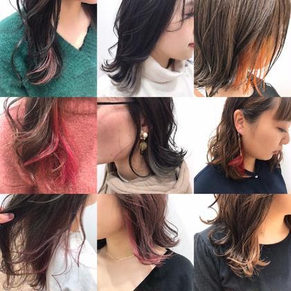 ◆春はインナーカラー◆全体カラー+インナーカラー+プチ髪質改善aujua🤗※ロング料金なし