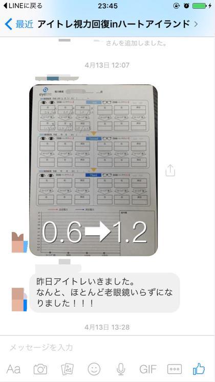 なんと1回目で老眼鏡いらずに!  アイトレ・東京ハートアイランド南店所属・視力回復アイトレ0.2→1.5宇原のスタイル