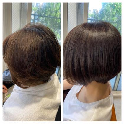 髪質改善ストレート‼️ 酸性域の縮毛矯正です。酸性域だと髪の毛に負担がかからずサラサラ、ツヤツヤになります。