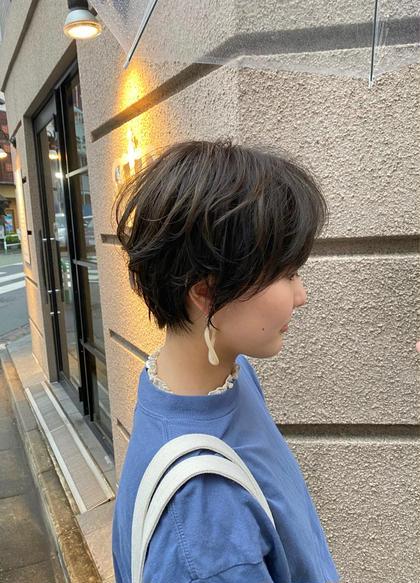【ショートorショートボブ限定】小顔カット+コスメパーマ+透明感カラー+潤いトリートメント