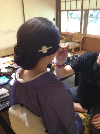 シニヨンのヘアセット 艶照院所属・橘京のスタイル