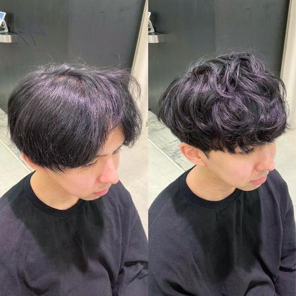 🌿💕大人男子になれる💕🌿似合わせ小顔カット+ゆるふわ地毛風パーマ+髪質改善高保湿4STEPトリートメント🌿