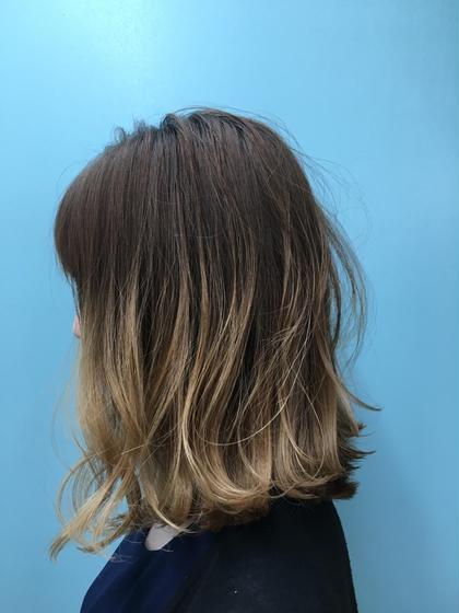 切りっぱなし×グラデーションカラー HAIR DERA'S所属・飯田啓奨のスタイル
