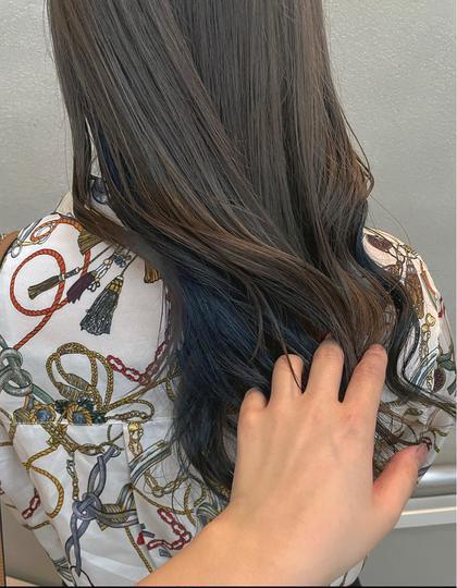 《人気No.3✨》透け感たっぷりブリーチWカラー+内部補修ケア+選べる髪質改善シャンプー