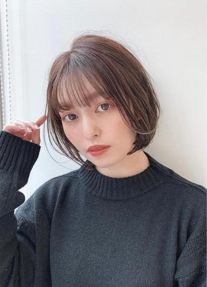 【🧏♀️人気のメンテナンスプラン🧏♀️】前髪カット+透明感カラー+トリートメント