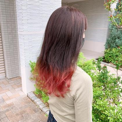 オシャレで可愛い🌷裾カラー🌷(ブリーチ込み)+ミストカラー💕 (ケアブリーチ+¥1650)