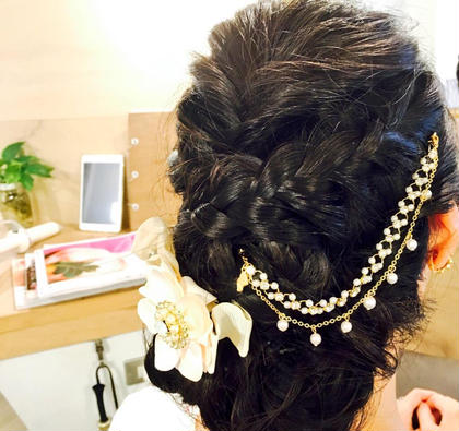 #ヘアセット#ヘアアレンジ#結婚式 Hair&spa likklemore by Rico所属・川端かんなのスタイル