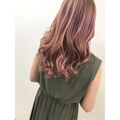 淡いピンクでより可愛く柔らかく💐