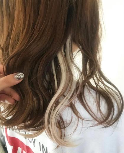 🐬【限定】透明感イヤリングカラー+髪質改善選べるトリートメント🐬(ロング料金なし・ブリーチ込み)❗