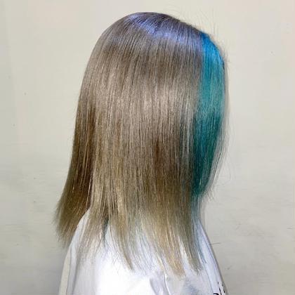 《フェイスフレーミング》+《全体カラー》+《前髪カット》