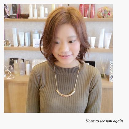 ニュアンスカールボブ hair relaxation rire所属・出石咲子のスタイル