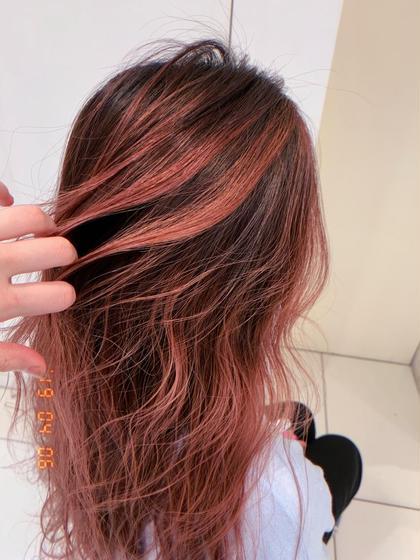 🌈❤️💜明るい白髪染め➕ハイライト➕イルミナカラー➕髪質改善トリートメント➕バングカット➕ブロー料金込み❤️💜🌈