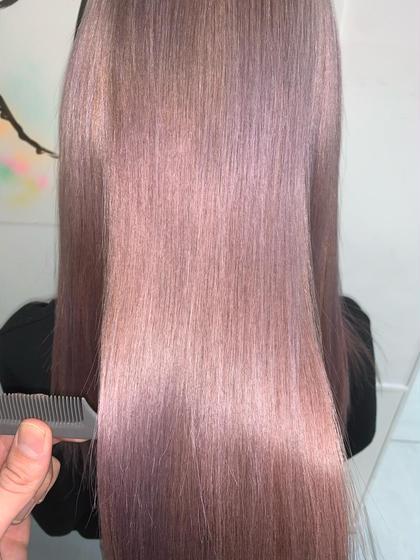 究極の技術【綺麗な髪は艶と色味があってこそ】✳️カット+イルミナカラー+ハイトーン縮毛矯正✨【ブリーチ毛🆗】