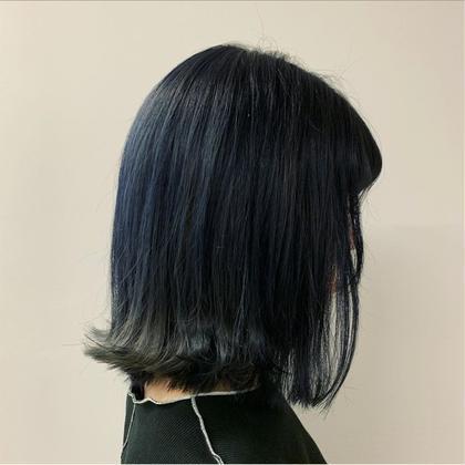 【🧿8月限定🧿】💙ポイントブリーチ+カラー💙(+トリートメント・ヘッドスパ)⦅インナーカラー・裾カラー選択可能⦆