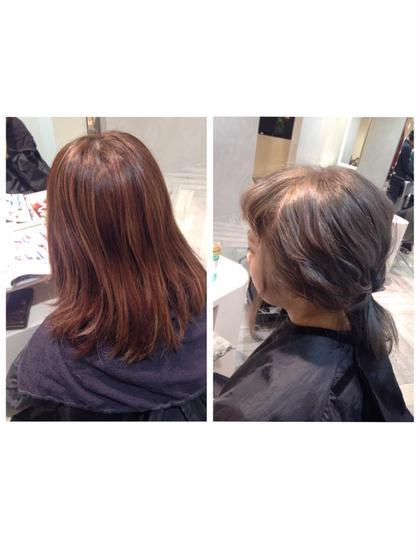 カラー 赤みの強い髪から透明感あふれる  アッシュカラーに チェンジ ❤︎❤︎❤︎  赤み消しカラー 大得意です ❤︎❤︎