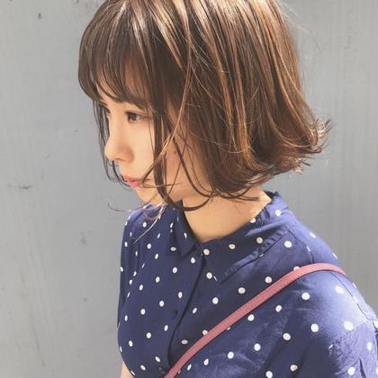 【✨透明感color✨】カラー+ブロー