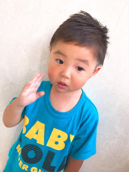 福田武士のキッズヘアスタイル・髪型