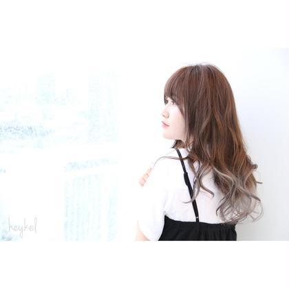 その他 カラー セミロング ヘアアレンジ ミディアム ロング グラデーションカラー❤︎ ブリーチ&カラー ¥8000
