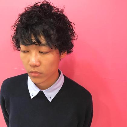 かっこよくします✨カット+低ダメージパーマ9500→4000