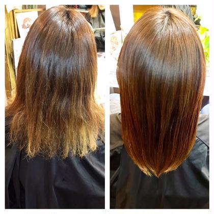 髪質改善メニューです!まっすぐなりすぎたくない方、艶が欲しい方にピッタリのメニューになります☆