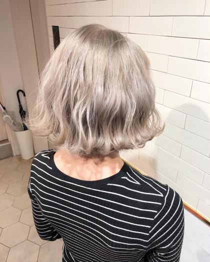 《ケアブリーチ&最高級トリートメント》外国人風Wカラー×髪質改善トリートメント