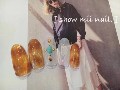 #ジェルネイル #シェラックネイル #5000 #定額制 # べっ甲 # summer nail show mii nail .所属・佐藤絢香のフォト